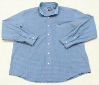 Ralph Lauren Blue Dress Shirt Long Sleeve Button Up Cotton Poly XL Extra Large