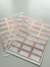 63 Metallic Rose Gold  Blank Pantry labels