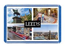 Leeds City Fridge Magnet - Large Size (7cm x 4.5cm) - Great Gift Idea - Tourism