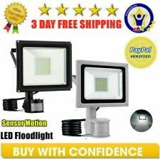 LED Flood Light PIR Motion Sensor Outdoor Security Spotlight Yard 10W 20W 30W