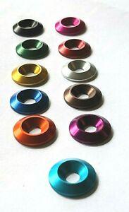 M5 x 18mm Countersunk Washers Anodised Aluminium  -11 Colours