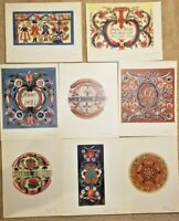 "8 Color Prints Norwegian Designs ""old rosemaling In Rogaland"" Portfolio Folder 5"