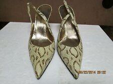 Dolce & Gabbana Beige Snakeskin Heeled Sandals 36
