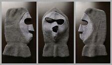 Vintage SKI MASK Full Face Gray USA nose/flap balaclava hunting/snowmobile/hat
