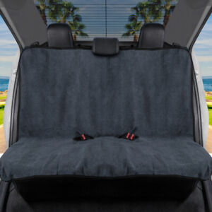 BDK UltraFit Waterproof Towel Car Seat Cover - Rear Bench Cover with Black Trim