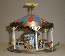 Vintage Plastic HO Building - Fairground Carousel Animal Ride
