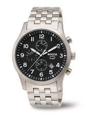 B3755-02 Nuova Boccia Gents Orologio Cronografo Bracciale in Titanio