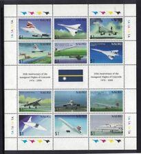 2006 Nauru 30th Anniversary of Concorde Flights SG 643/4 MS of 12 Stamps Muh