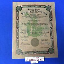 Boy Scout 1933 Certificate Jersey City Council Scoutmastership Part 2