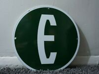 VINTAGE EDSEL PORCELAIN METAL SIGN GAS OIL GASOLINE SERVICE STATION PUMP PLATE