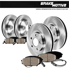 For 2011-2013 BMW X3 Front eLine Black Drill Slot Brake Rotors+Ceramic Brake Pad