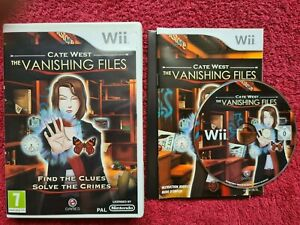 CATE WEST THE VANISHING FILES NINTENDO WII PAL