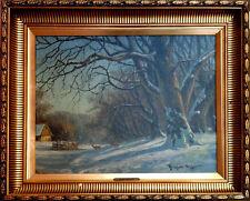 Reinholdt Nielsen 1891-1984: WINTER LANDSCHAFT MIT REHE