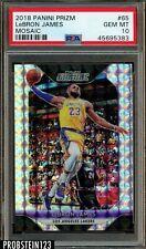 2018-19 Panini Mosaic Prizm #65 Lebron James Lakers PSA 10 GEM MINT