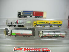 AJ379-1# 5x Kibri/RMM/Albedo H0 LKW: Mercedes/MB+Renault+Sauer+MAN, OVP