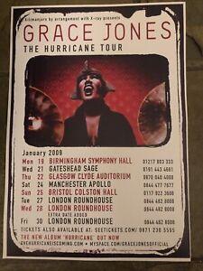 Grace Jones  - Concert/Gig poster, UK Hurricane Tour 2009