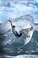 WATER BALLET SURFING PHOTOGRAPHY BY DIANNE ENGLISH POSTER (61x91cm)  PICTURE ART
