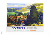 SOMERSET PORLOCK ADVERTISING RAILWAY POSTER VINTAGE RETRO HOLIDAY TRAVEL