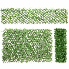 Costway 3PC Artificial Leaf Faux Ivy Privacy Fence Screen Expandable Retractable