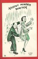 ELMER ANDERSON ABSENT MINDED  COMIC 1951 POSTCARD