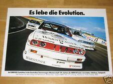 BMW M3 E30 POSTER 12 - SCHNITZER ES LEBE DIE EVOLUTION / ORIGINAL VINTAGE - RAR