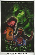 Faces of Foley Original Funky Posters Wrestling MINI Promo Piece 3x5