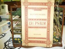 Music.13th Psalm, Mendelssohn. Novell's Original Octavo.