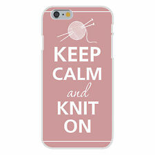 Keep Calm & Knit On Needles & Yarn FITS iPhone 6+ Plastic Snap On Case Cover New