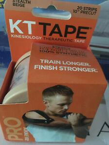 KT Tape PRO Stealth Beige 20 Pre-cut 10 inch Strips Kinesiology Therapeutic Tape