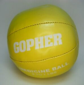 Gopher 6 to 7lbs Medicine Ball Yellow