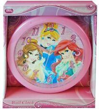 "Princess Cinderella Belle Ariel Clock 9.5"" Room Decoration Mount Clock for Kids"