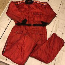 Vintage Rare Daco Men's Goldberg Snow Mobile Winter Suit Red EL Zip Snap
