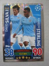 Champions League2015/16 Duo card Silva & Sterling of Manchester City