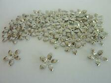 60 pce Antique Silver Metal Leaf Style Bead Caps 15mm Jewellery Making Craft