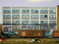 #127 HO scale background building flat  LARGE FACTORY   *FREE SHIPPING*