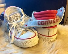 CONVERSE-ALL STAR-bottines-baskets-Cuir - pliant brodé-Taille 5-RARE