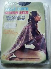 Vintage NIGHTSHADE Queen Size 4XL Super Stretch Pantyhose Tights 190- 260lb NEW