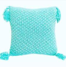 Macrame Aqua Cushion Cover