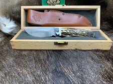 """1994 Vintage Puma 6010 Skinmaster (Jagdmesser) Knife Stag Handles Mint - """"A"""""""