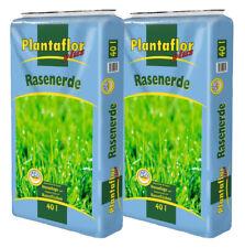 Plantaflor Plus Rasenerde 80 L (2 x 40 L) Spezial Erde für Rasen Neuanlage