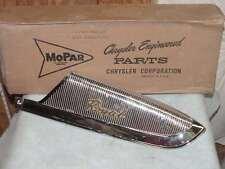 1959 Dodge Royal NOS MoPar Right Quarter FRONT MOLDING & NAMEPLATE #1909392