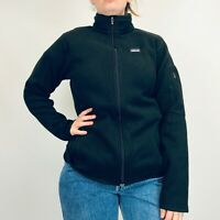 Vintage Patagonia Fleece Jacket Women's Large Black Full Zip