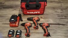 New Hilti Sfd Sid 2a Sf 2ha Drill Kit With 2 Batteries Charger Bag Tool Bundle