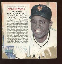 1955 Redman Tobacco Baseball Card #7 Willie Mays