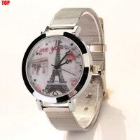 2017 Women Fashion Watch Ladies Stainless Steel Formal Analog Quartz Wrist Watch