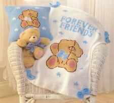 Knitting Pattern Baby's DK Forever Friends Cushion Cover & Blanket (115)
