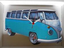 Azul Samba de diseño clásico de Vw Camper Van Reloj De Pared. Nuevo Y Sellado
