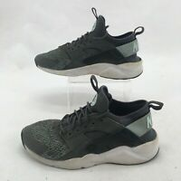 Nike Air Huarache Run Ultra SE Sneakers Shoes Low Top Lace Up Grey Mesh Youth 7