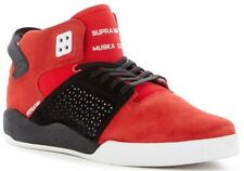 NIB Supra Skytop III Mid Sneaker Men's Lace Up Shoes RED WHITE Size 10