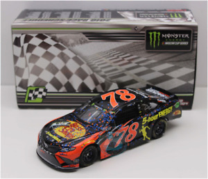 NASCAR 2018 MARTIN TRUEX #78 AUTO CLUB 400 RACE WIN BASS PRO SHOPS 1/24 CAR